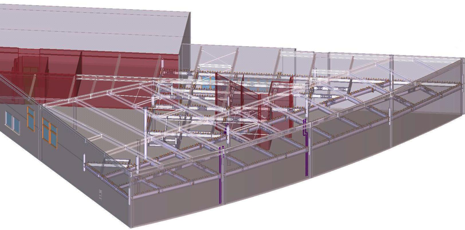 Inwentaryzacja budynku i inwentaryzacja konstrukcji za pomocą skanowania laserowego.